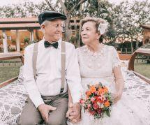 60 ans après leur mariage, ils s'offrent la séance photo de leurs rêves