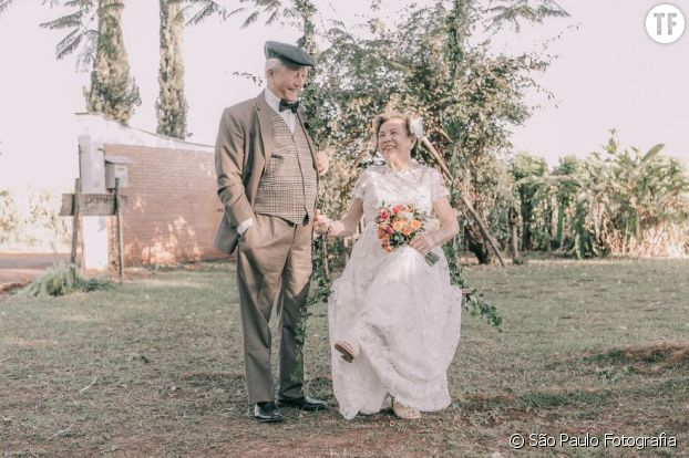 60 ans après leur mariage, on leur offre une séance photo sublime