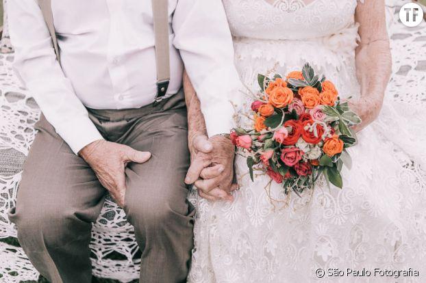 Ce couple a attendu 60 ans avant d'immortaliser son mariage