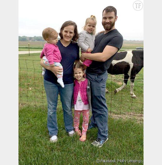 Molly Lensing et sa famille
