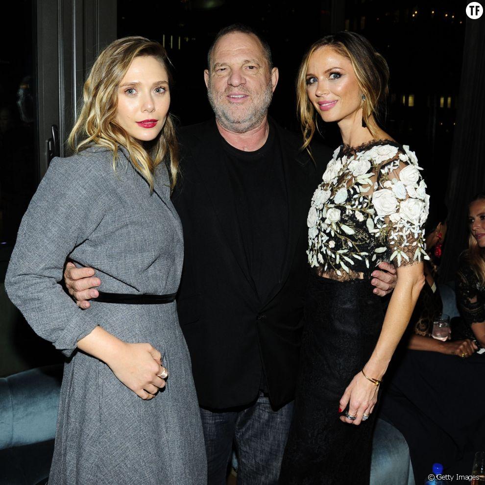 Harvey Weinstein avec deux de ses collaboratrices.