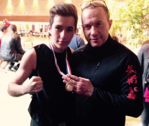 Enzo Soetens et son père Pascal.