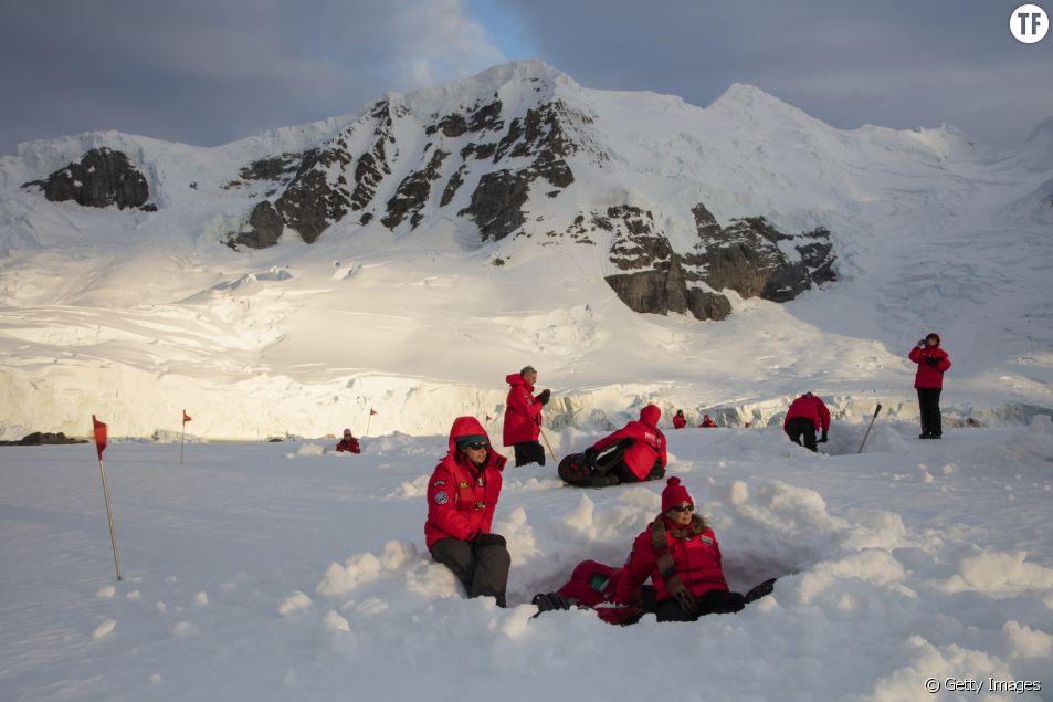 Une équipe de chercheurs en Antarctique.