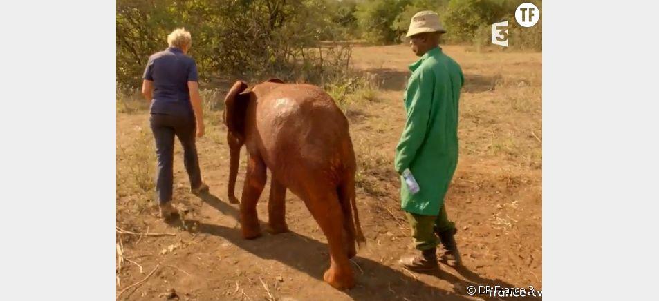 """Muriel robin dans """"La Terre des élephants""""."""