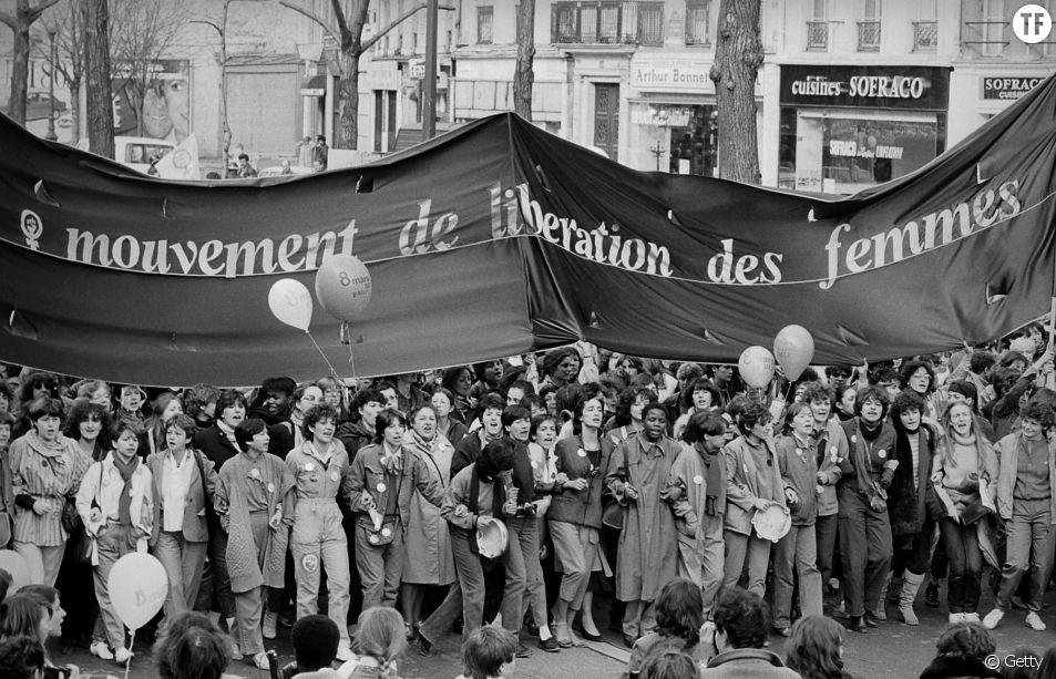 Une manifestation du MLF le 8 mars 1981