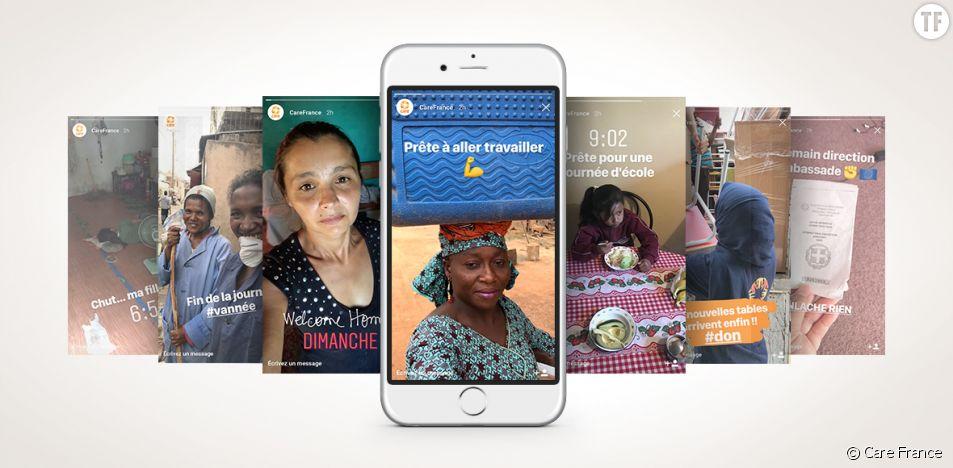 Les stories du bout du monde de l'ONG Care