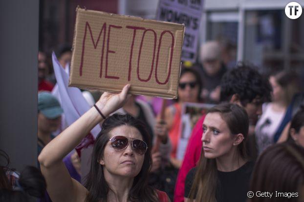 Manifestante à Los Angeles le 12 novembre 2017