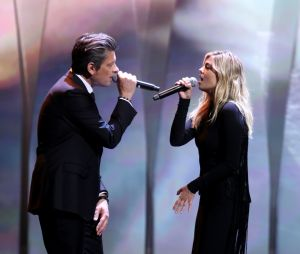 Benjamin Biolay et Louane Emera à la cérémonie d'ouverture du 70ème Festival International du Film de Cannes, 17 mai 2017