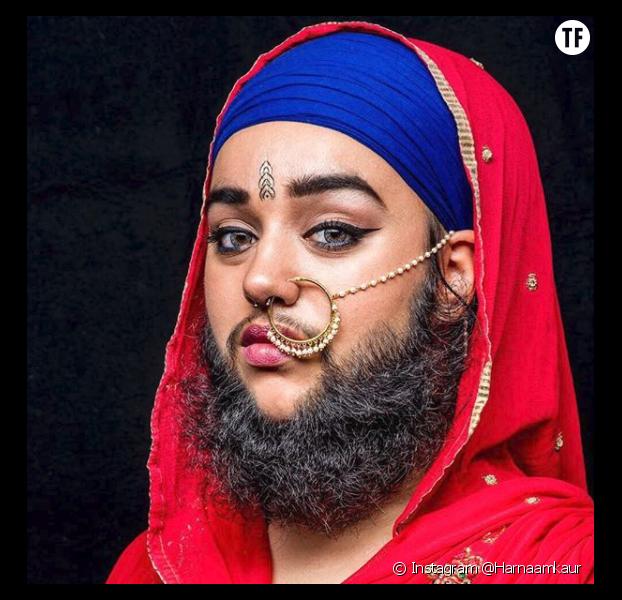 Harnaam Kaur, femme à barbe depuis l'âge de 16 ans.