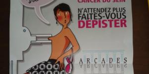 Cette affiche sexiste pour le dépistage du cancer du sein fait un tollé