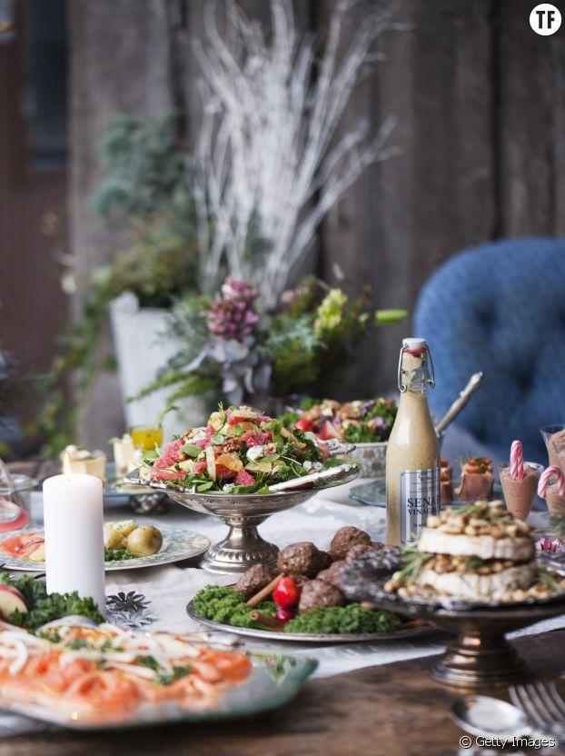 Un buffet scandinave pour les fêtes de Noël