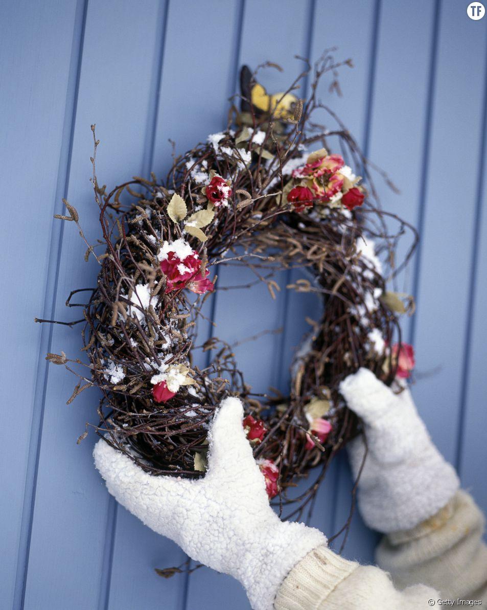 Couronne de Noël en Scandinavie