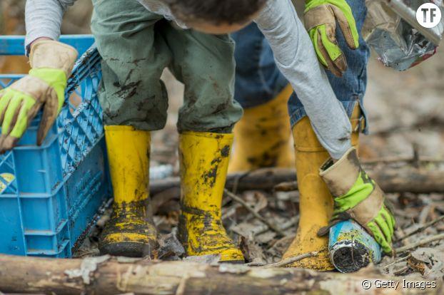 Photo d'illustration de personnes ramassant des déchets.
