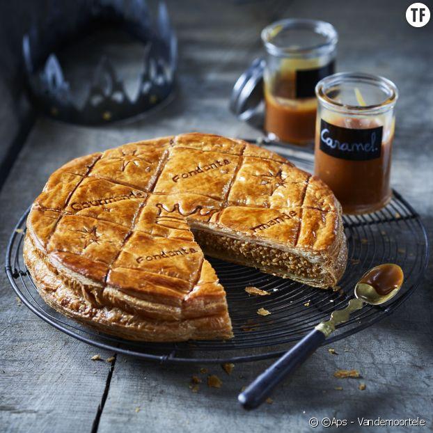 La galette frangipane-caramel au beurre salé