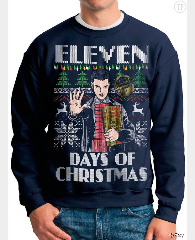 "Un pull de Noël ""Stranger Things"""