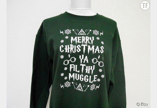Pull de Noël Harry Potter x Home Alone