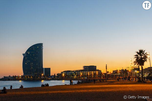 La plage de Barcelone.