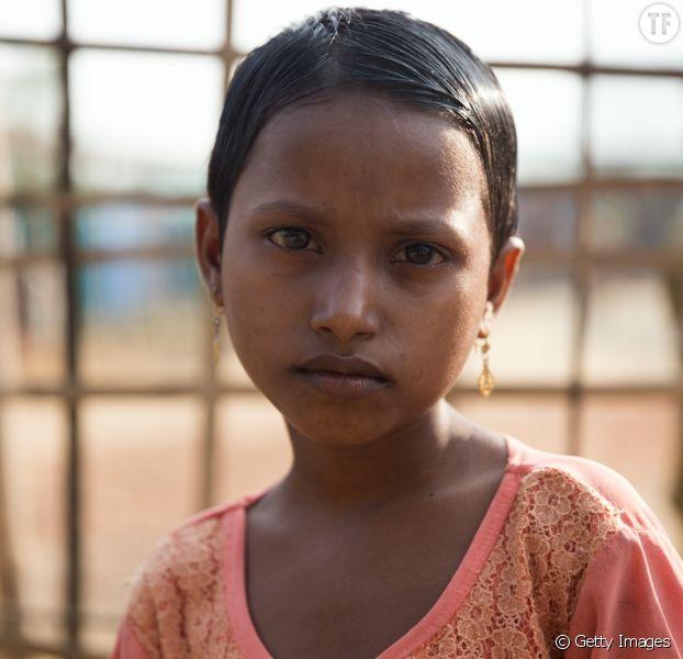 Photo d'illustration d'une petite fille rohingya.