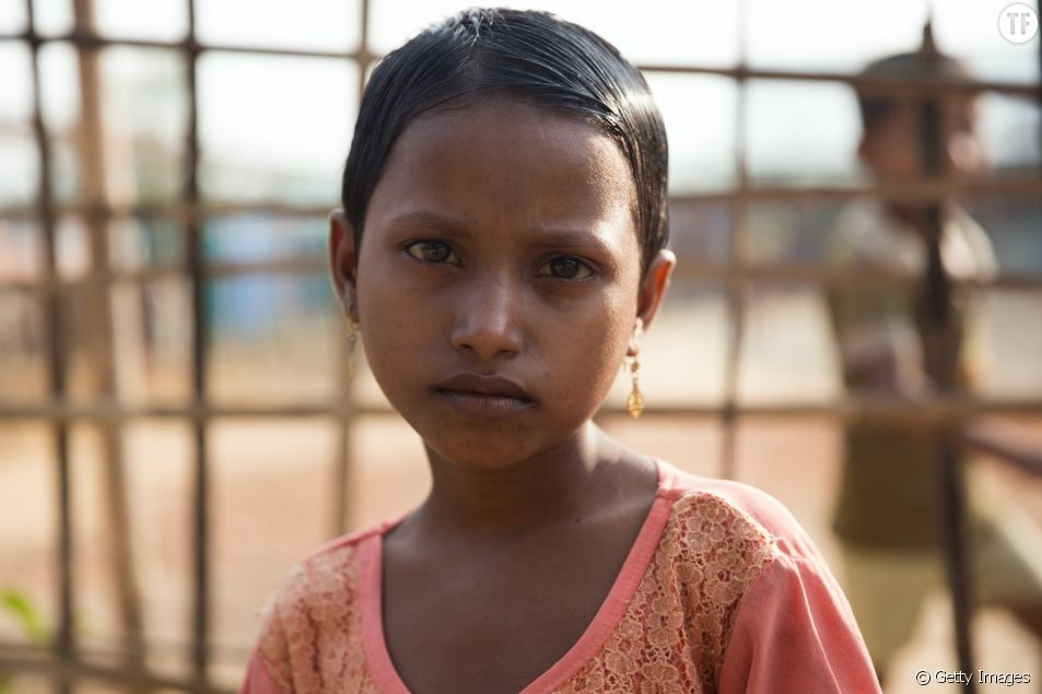 Photo d'illustration d'une petite fille rohingya.