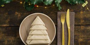 5 pliages de serviettes originaux pour Noël