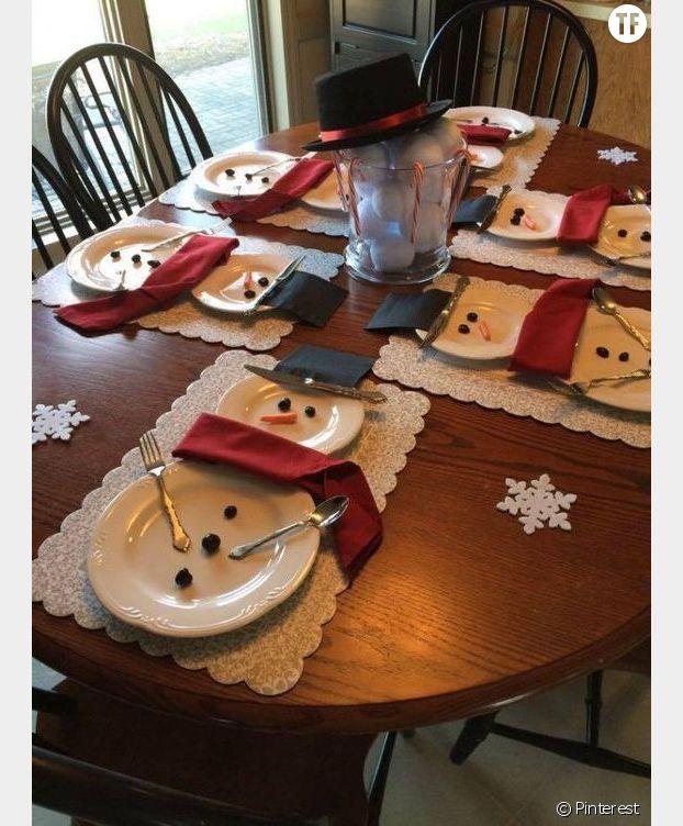 Une décoration bonshommes de neige