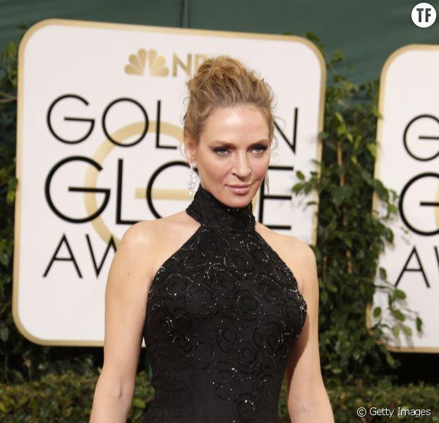 Uma Thurman à la cérémonie des Golden Globes en 2014