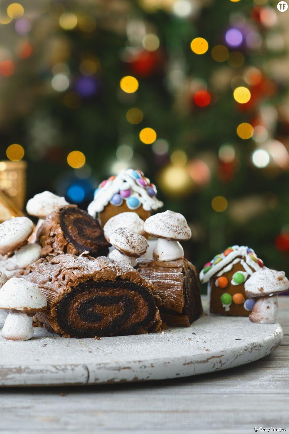 La recette facile et rapide de la bûche de Noël au chocolat