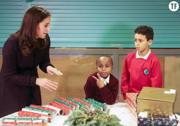Yahya Hussein Ali avec Kate Middleton.