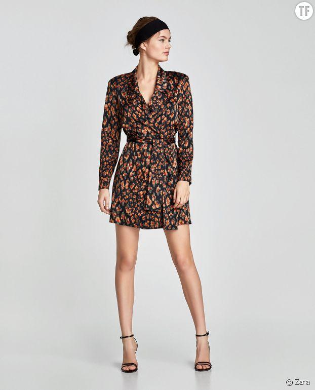Robe veste multicolore Zara