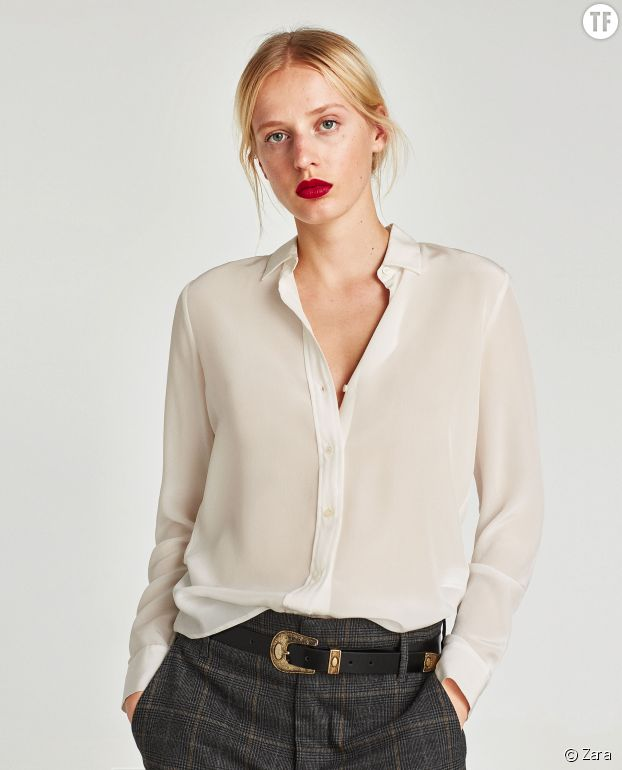 Chemise en soie Zara
