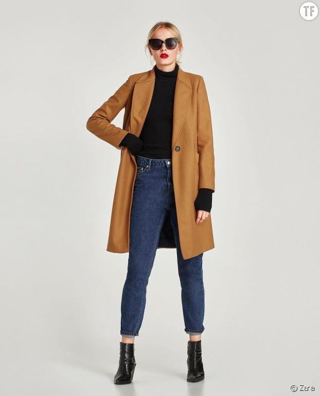 Manteau masculin Zara en laine