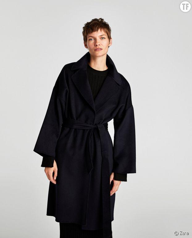 Manteau long Zara avec ceinture