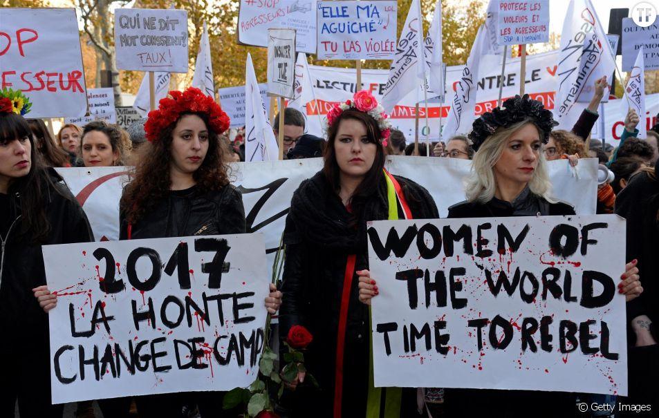 Rassemblement #MeToo à Paris en novembre 2017