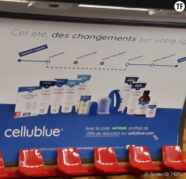 La publicité Cellublue dans le metro