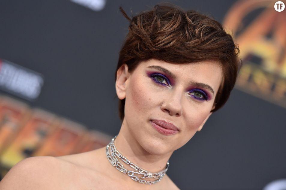 Scarlett Johansson à l'avant-première d'Avengers en avril 2018