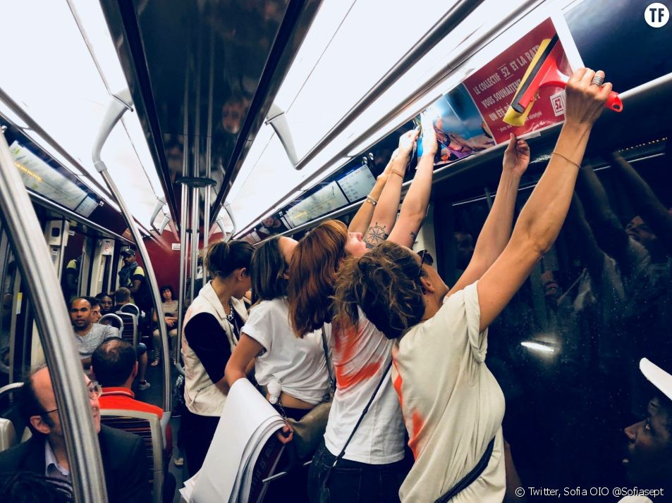Le collectif 52 en action dans le métro