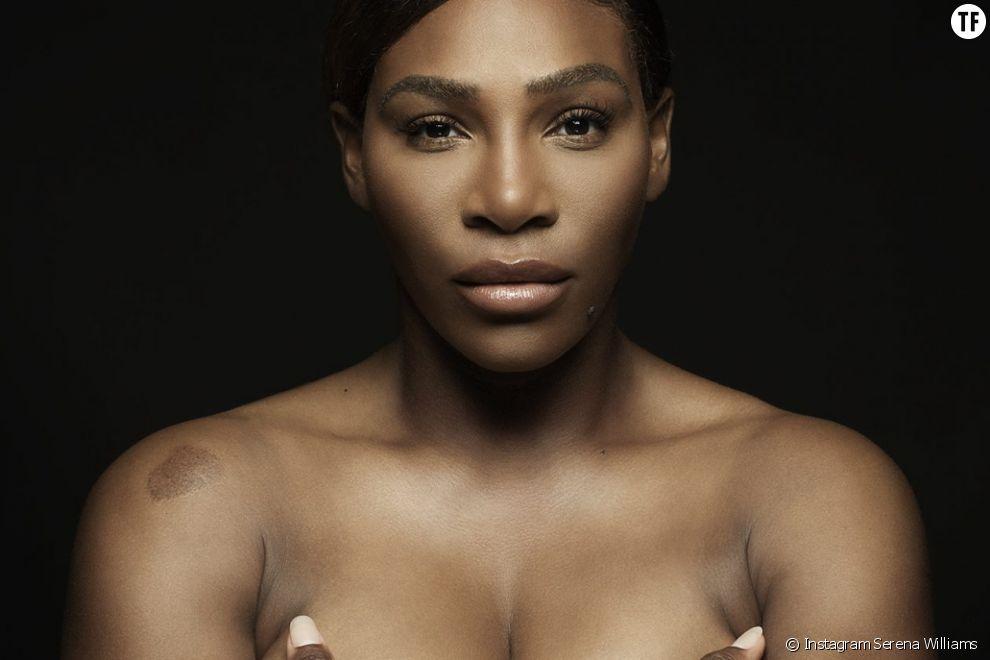 Serena Williams seins nus pour la prévention du cancer du sein