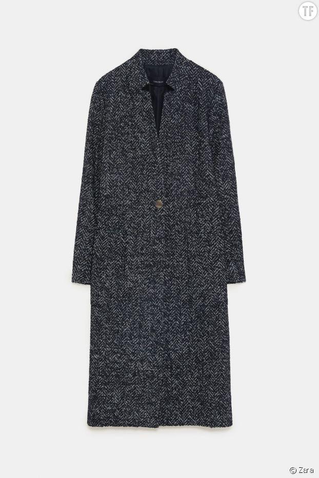 Manteau à chevrons, Zara