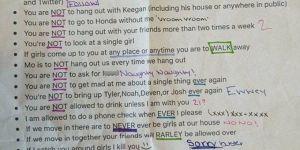 """Cette liste des """"règles"""" imposées à son copain devient virale"""