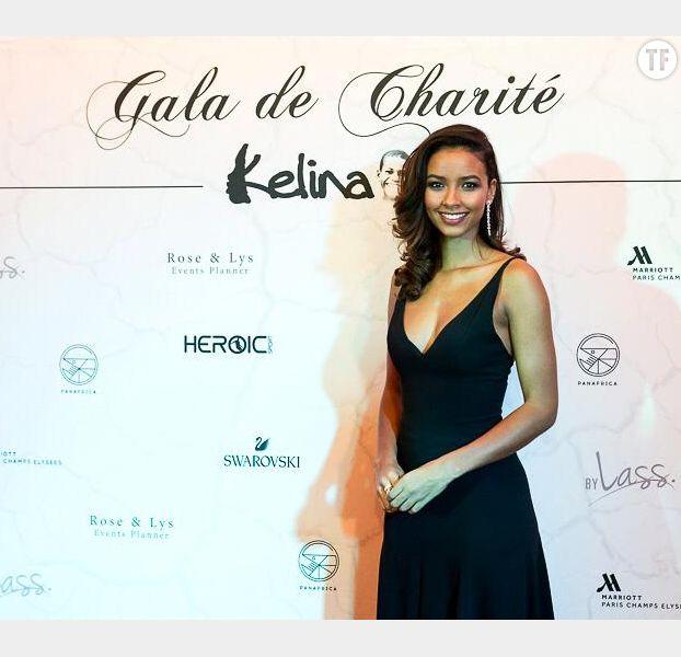 Flora Coquerel à son gala de charité pour l'association Kélina