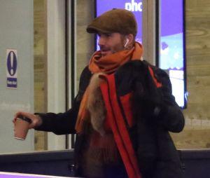 David Beckham à la patinoire avec sa fille