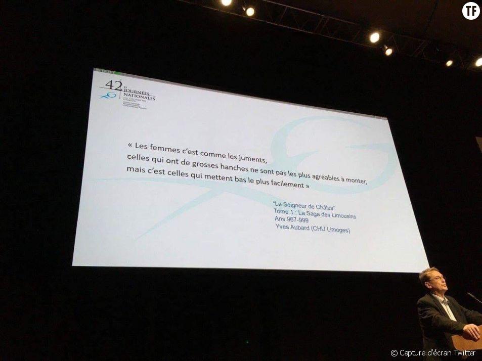 Une diapositive diffusée lors d'un colloc de gynécologie à Lille fait polémique