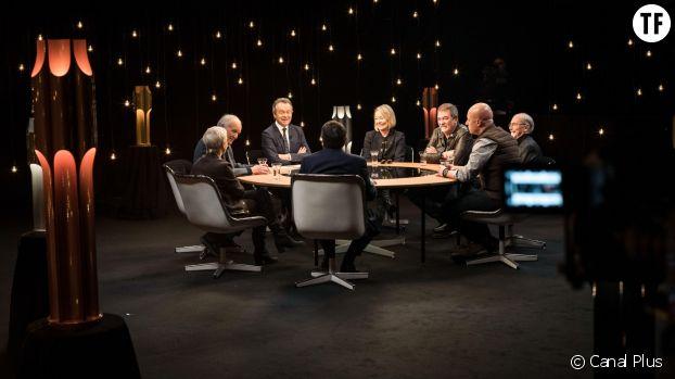 """Plateau de l'émission """"Profession"""" de Michel Denisot, avec Martine Monteil, Canal Plus"""