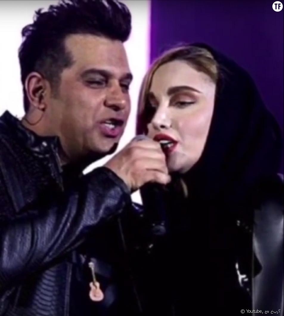 Le chanteur iranien Hamid Askari et la guitariste Negin Parsa