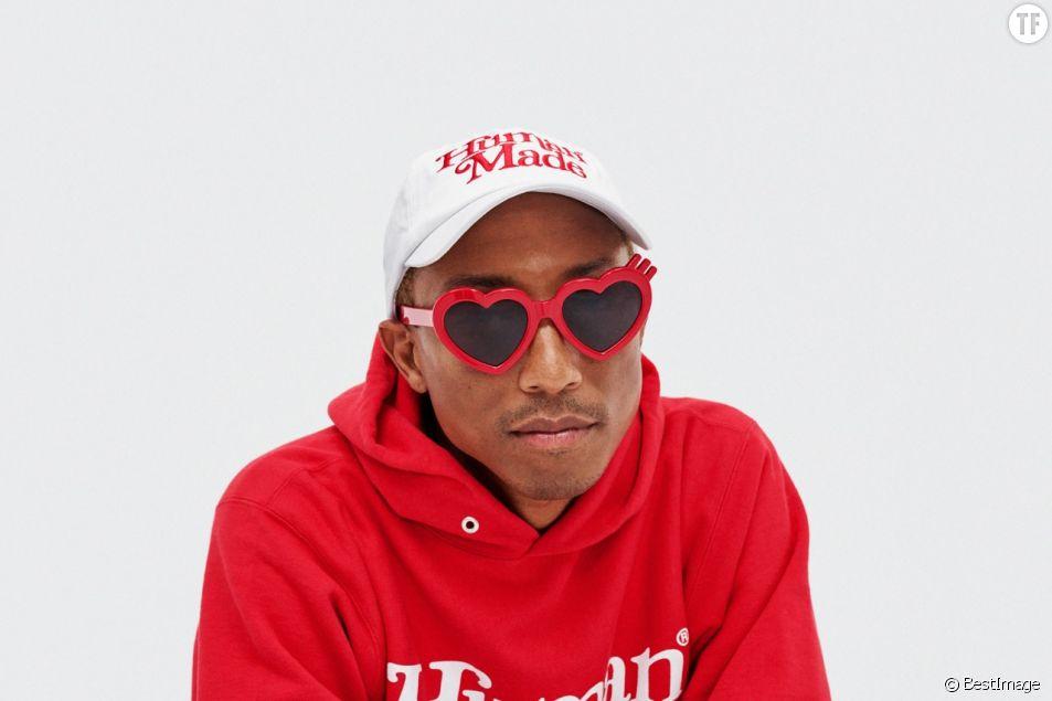 Pharrell Williams pose pour la nouvelle collection de Adidas