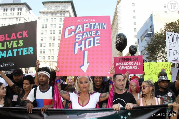 Amber Rose - Les célébrités lors de 'La marche des salopes' organisée par Amber Rose à Los Angeles, le 1er octobre 2017