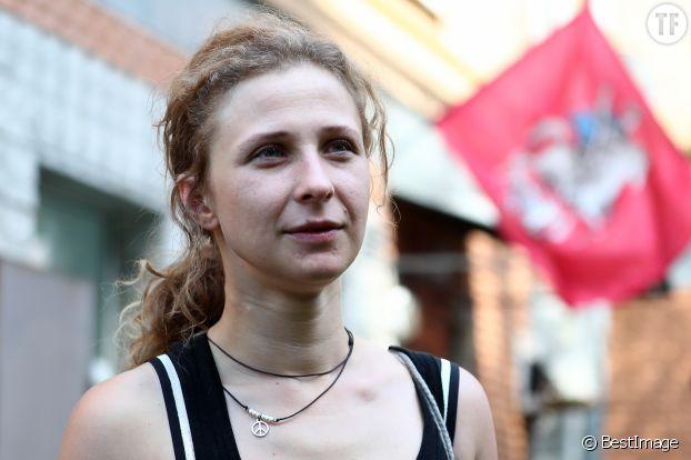 """Maria Alekhina des """"Pussy Riot"""" en juillet 2018."""