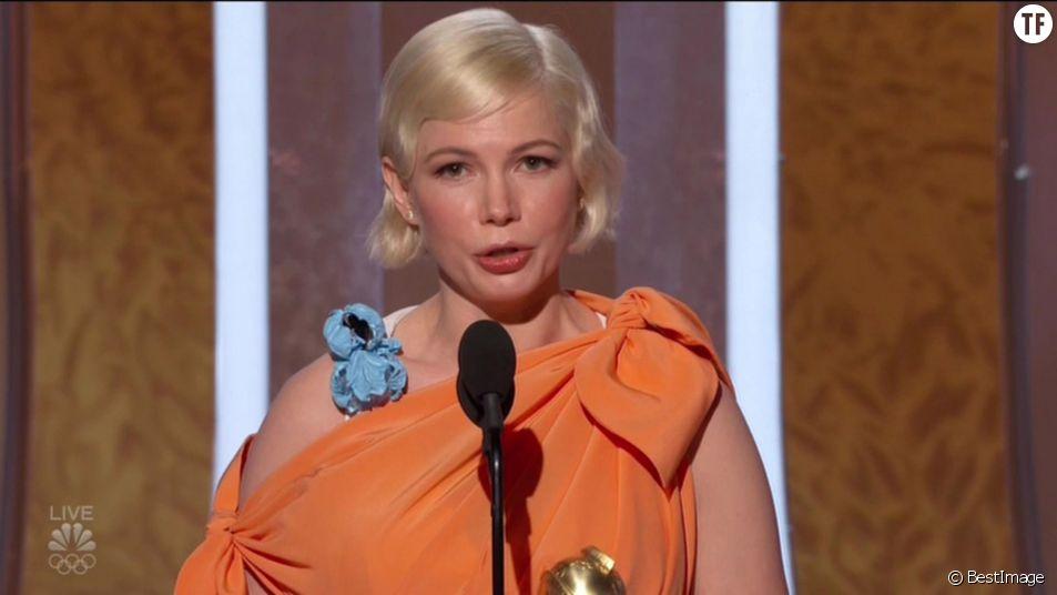 Michelle Williams, plus poignante que jamais aux Golden Globes.
