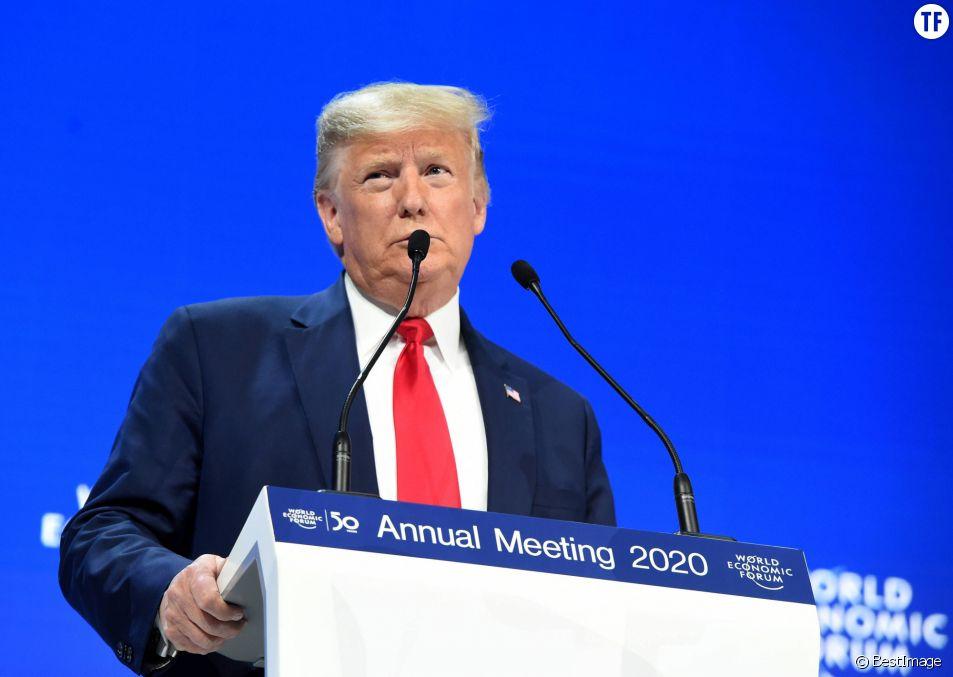 Donald Trump au Forum économique mondial de Davos le 21 janvier 2020