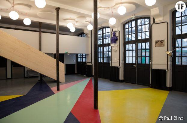 L'intérieur de la Cité audacieuse, dans le VIe arrondissement de Paris.